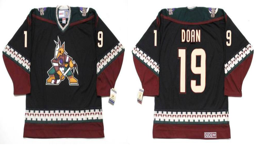 2019 Men Arizona Coyotes 19 Doan black CCM NHL jerseys