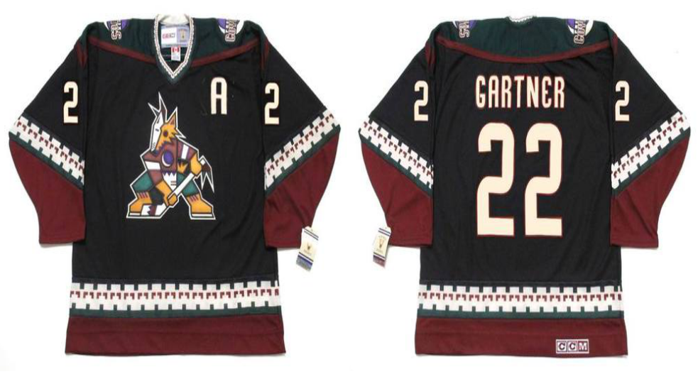 2019 Men Arizona Coyotes 22 Gartner black CCM NHL jerseys