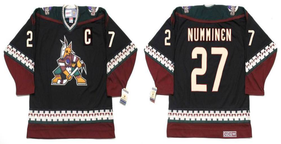 2019 Men Arizona Coyotes 27 Numminen black CCM NHL jerseys