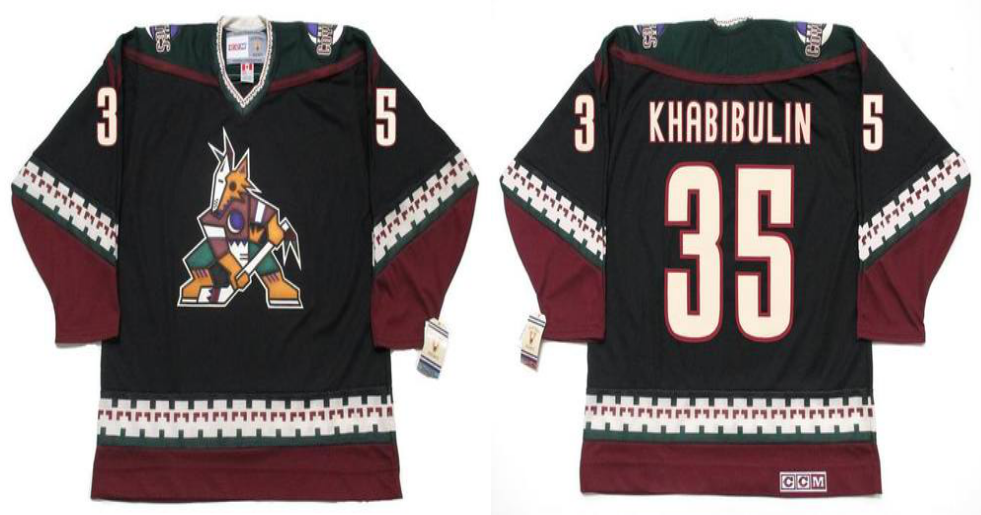 2019 Men Arizona Coyotes 35 Khabibulin black CCM NHL jerseys