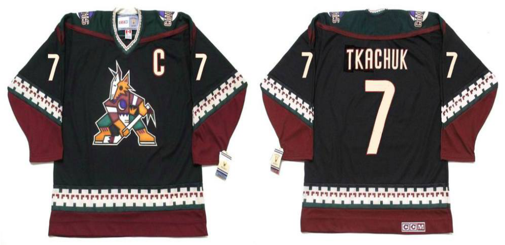 2019 Men Arizona Coyotes 7 Tkachuk black CCM NHL jerseys