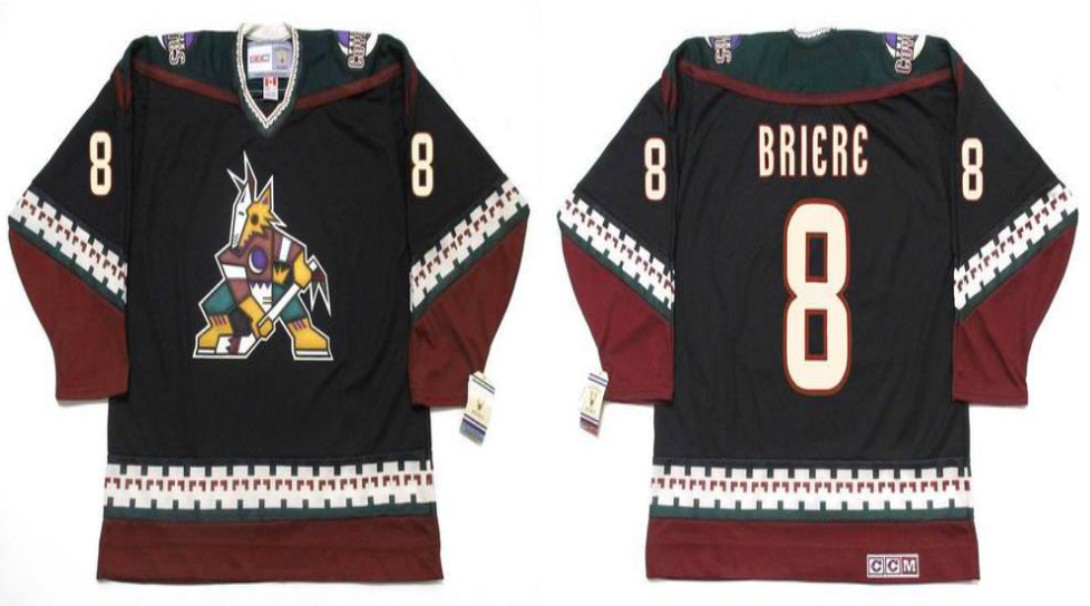 2019 Men Arizona Coyotes 8 Brierc black CCM NHL jerseys