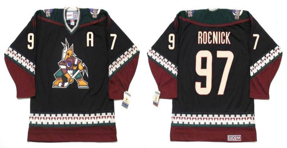 2019 Men Arizona Coyotes 97 Roenick black CCM NHL jerseys