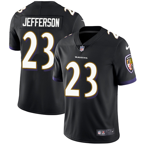 2019 Men Baltimore Ravens 23 Jefferson black Nike Vapor Untouchable Limited NFL Jersey