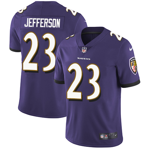 2019 Men Baltimore Ravens 23 Jefferson purple Nike Vapor Untouchable Limited NFL Jersey