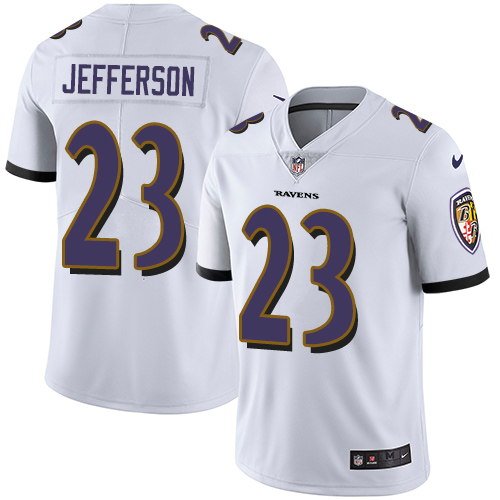 2019 Men Baltimore Ravens 23 Jefferson white Nike Vapor Untouchable Limited NFL Jersey