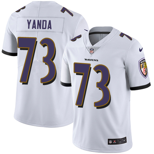 2019 Men Baltimore Ravens 73 Yanda white Nike Vapor Untouchable Limited NFL Jersey