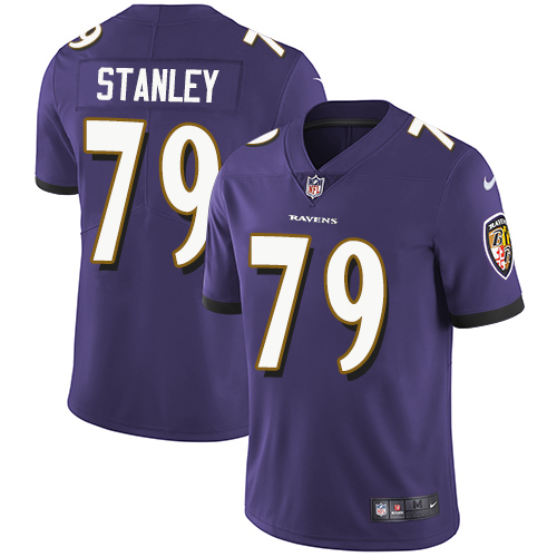 2019 Men Baltimore Ravens 79 Stanley purple Nike Vapor Untouchable Limited NFL Jersey