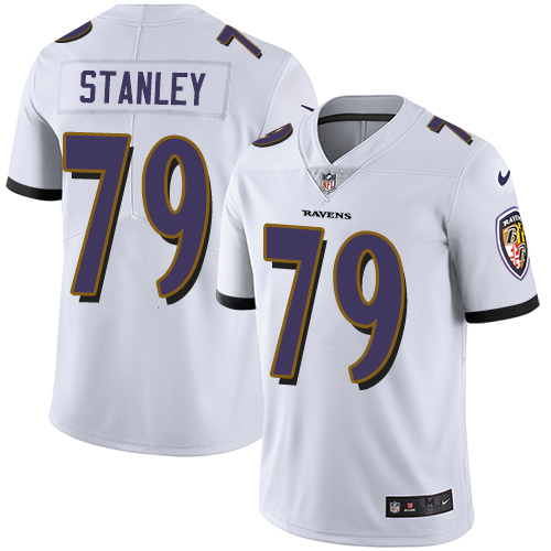2019 Men Baltimore Ravens 79 Stanley white Nike Vapor Untouchable Limited NFL Jersey