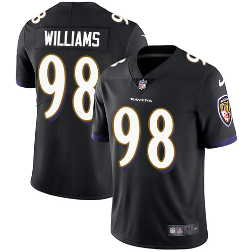 2019 Men Baltimore Ravens 98 Brandon Williams black Nike Vapor Untouchable Limited NFL Jersey