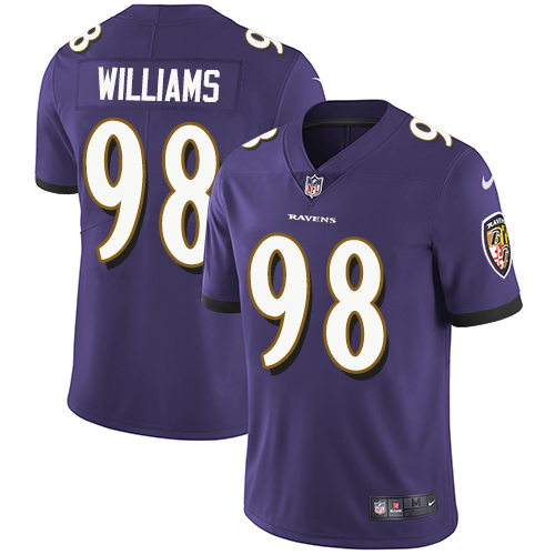2019 Men Baltimore Ravens 98 Brandon Williams purple Nike Vapor Untouchable Limited NFL Jersey
