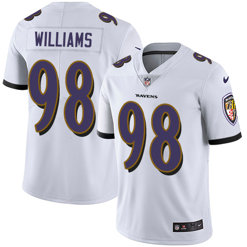 2019 Men Baltimore Ravens 98 Brandon Williams white Nike Vapor Untouchable Limited NFL Jersey