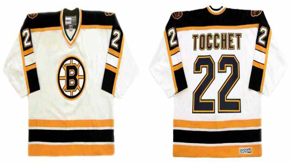 2019 Men Boston Bruins 22 Tocchet White CCM NHL jerseys