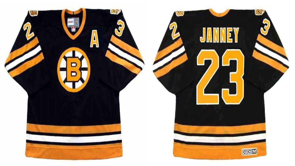 2019 Men Boston Bruins 23 Janney Black CCM NHL jerseys