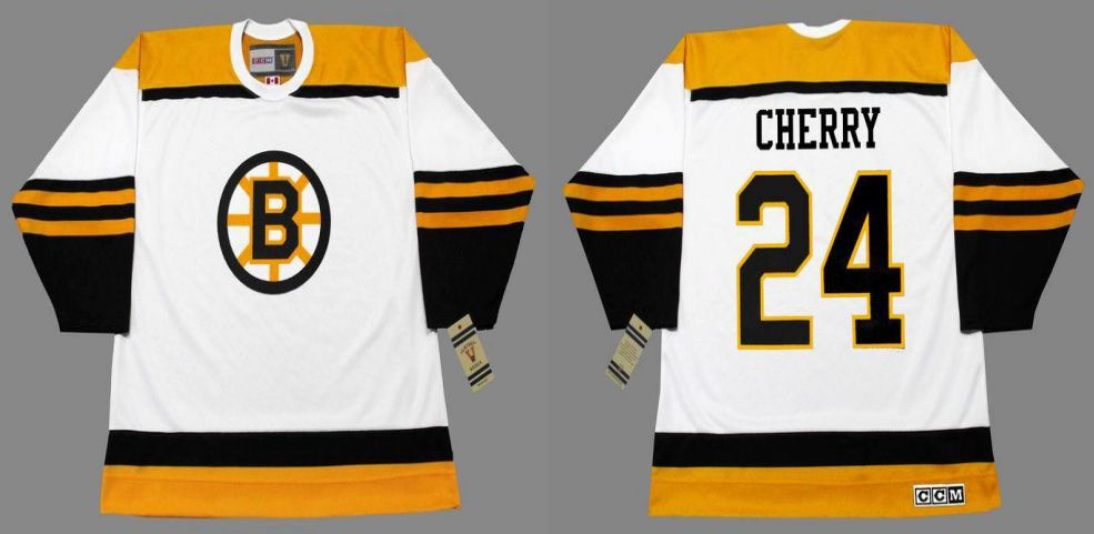 2019 Men Boston Bruins 24 Cherry White CCM NHL jerseys