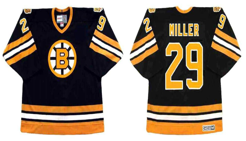 2019 Men Boston Bruins 29 Miller Black CCM NHL jerseys