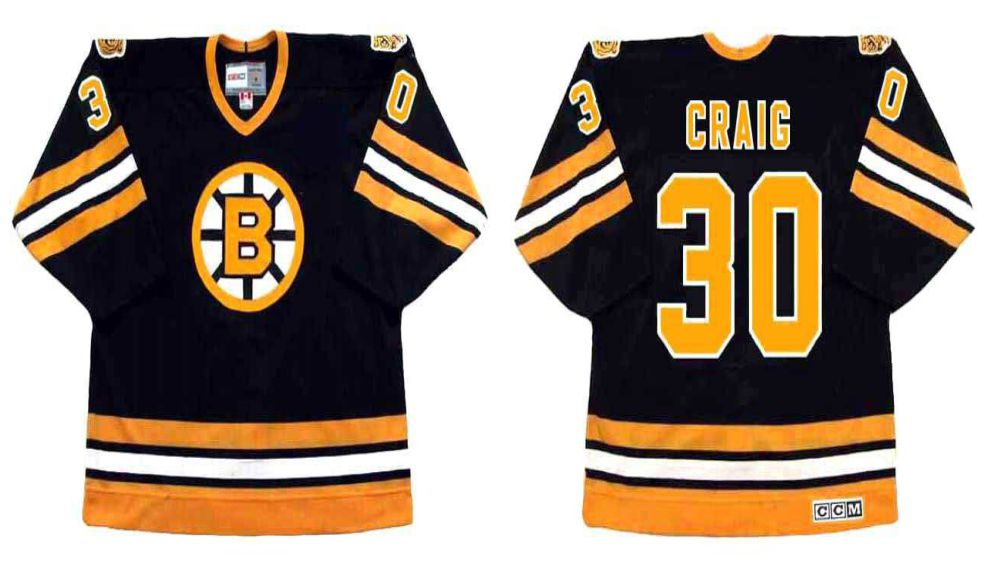 2019 Men Boston Bruins 30 Craig Black CCM NHL jerseys