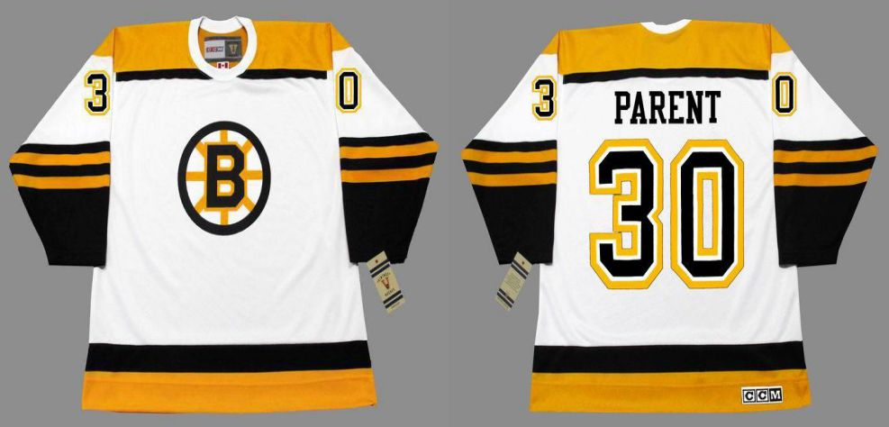 2019 Men Boston Bruins 30 Parent White CCM NHL jerseys