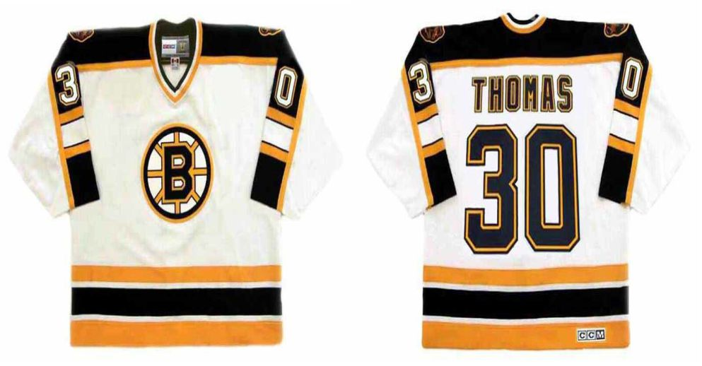 2019 Men Boston Bruins 30 Thomas White CCM NHL jerseys