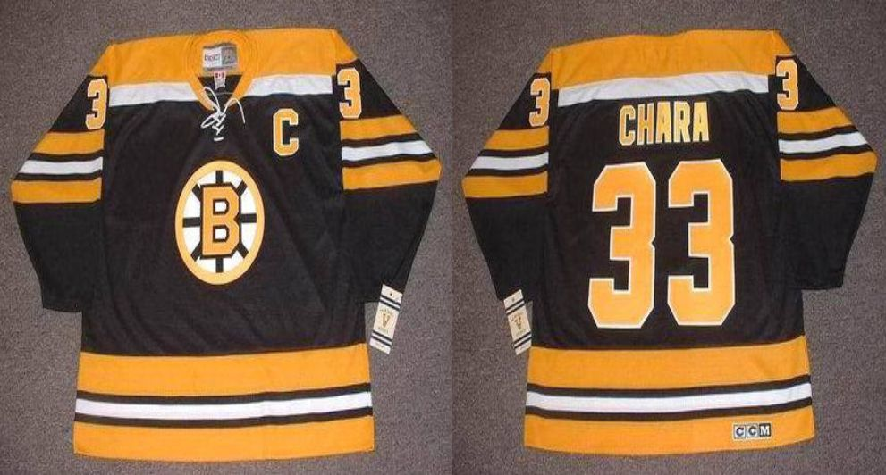 2019 Men Boston Bruins 33 Chara Black CCM NHL jerseys