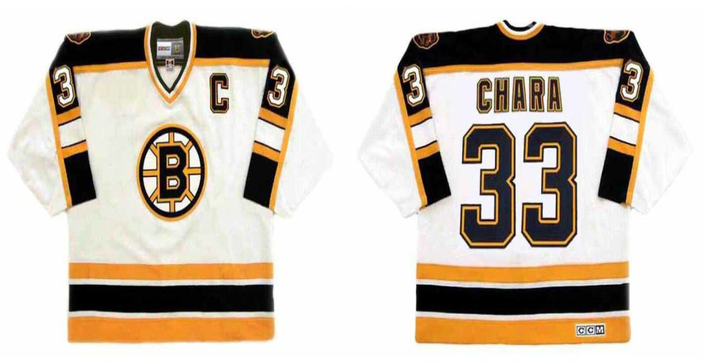 2019 Men Boston Bruins 33 Chara White CCM NHL jerseys