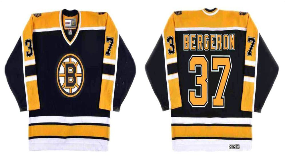2019 Men Boston Bruins 37 Bergeron Black CCM NHL jerseys