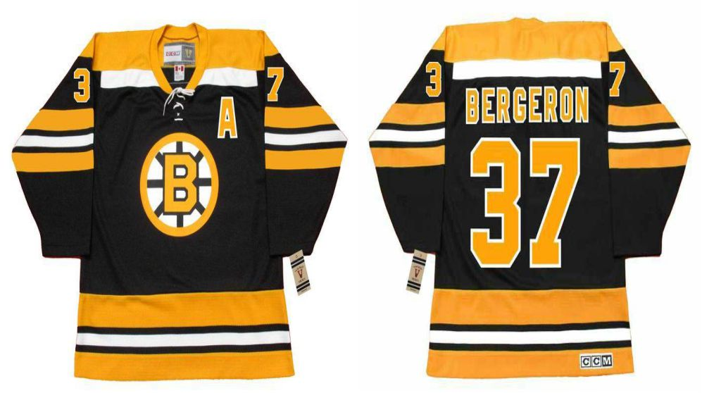 2019 Men Boston Bruins 37 Bergeron Black CCM NHL jerseys1
