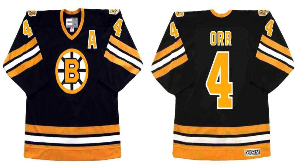 2019 Men Boston Bruins 4 Orr Black CCM NHL jerseys2