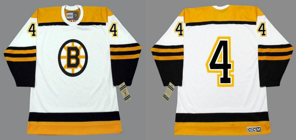 2019 Men Boston Bruins 4 Orr White CCM NHL jerseys