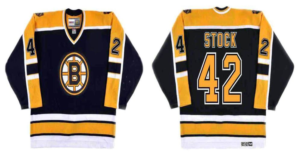 2019 Men Boston Bruins 42 Stock Black CCM NHL jerseys
