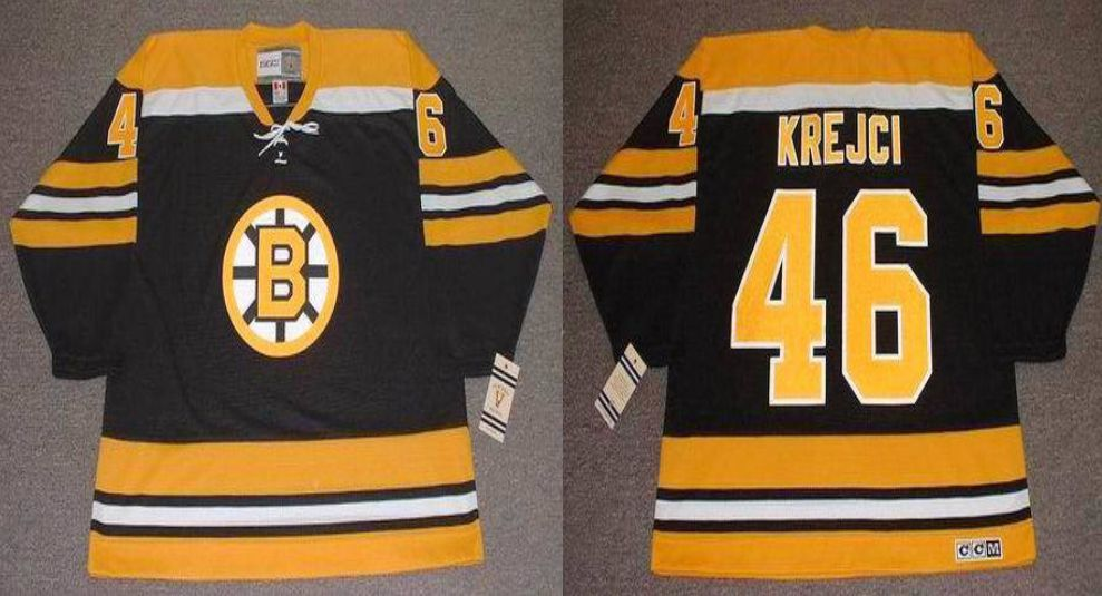 2019 Men Boston Bruins 46 Krejci Black CCM NHL jerseys