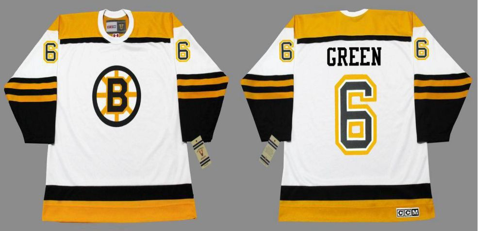 2019 Men Boston Bruins 6 Green White CCM NHL jerseys