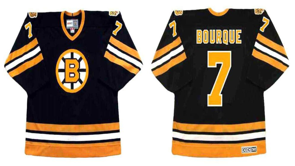 2019 Men Boston Bruins 7 Bourque Black CCM NHL jerseys