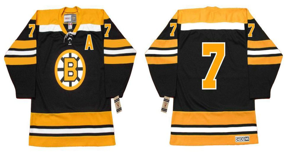 2019 Men Boston Bruins 7 Esposito Black CCM NHL jerseys1