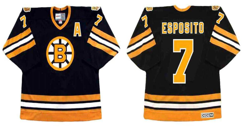 2019 Men Boston Bruins 7 Esposito Black CCM NHL jerseys2