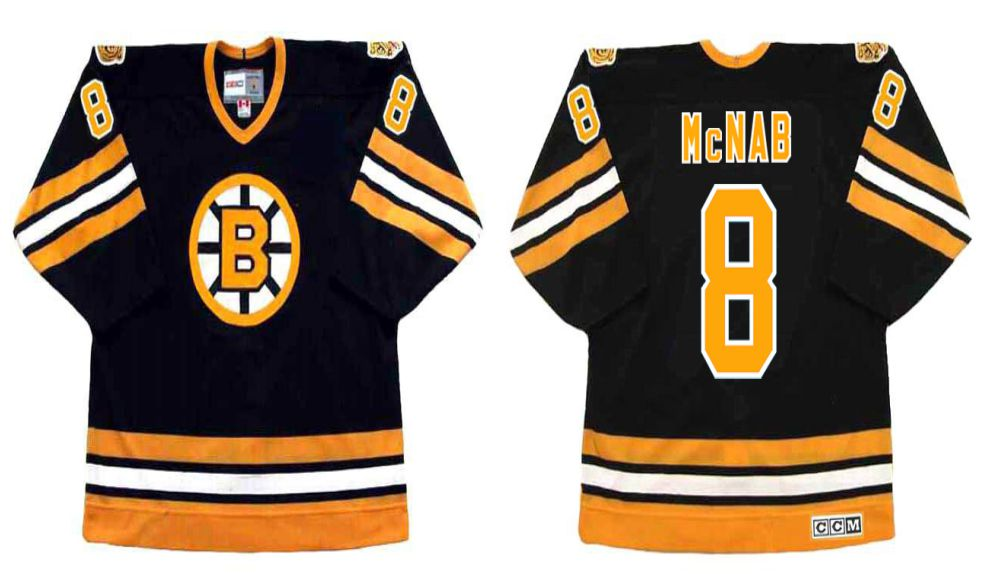 2019 Men Boston Bruins 8 Mcnab Black CCM NHL jerseys