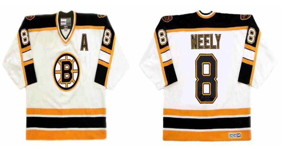2019 Men Boston Bruins 8 Neely White CCM NHL jerseys