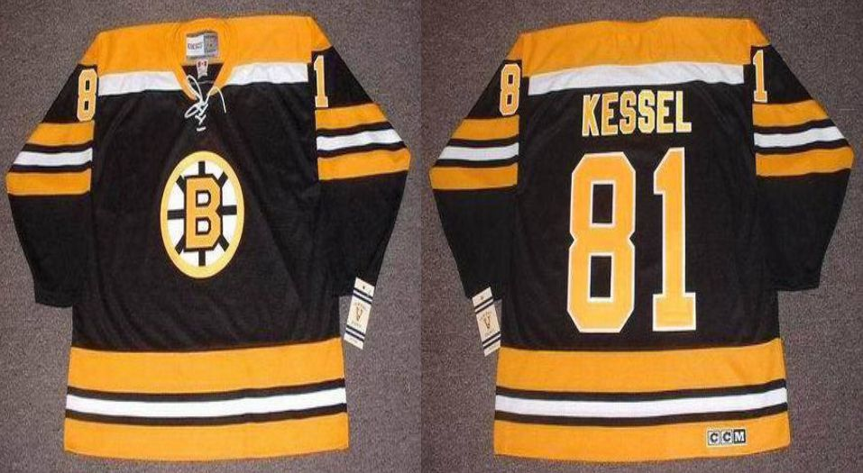 2019 Men Boston Bruins 81 Kessel Black CCM NHL jerseys