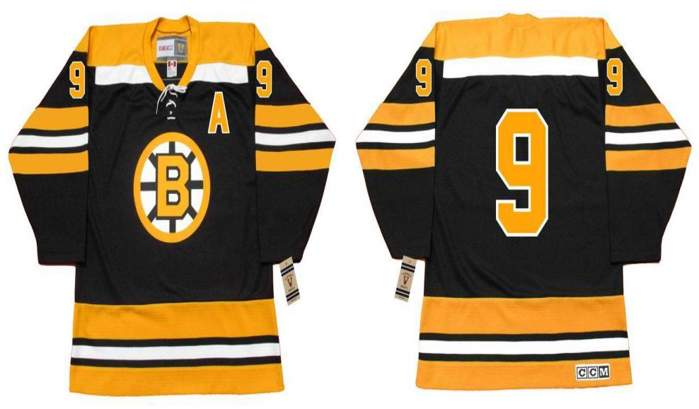 2019 Men Boston Bruins 9 Bucyk Black CCM NHL jerseys1