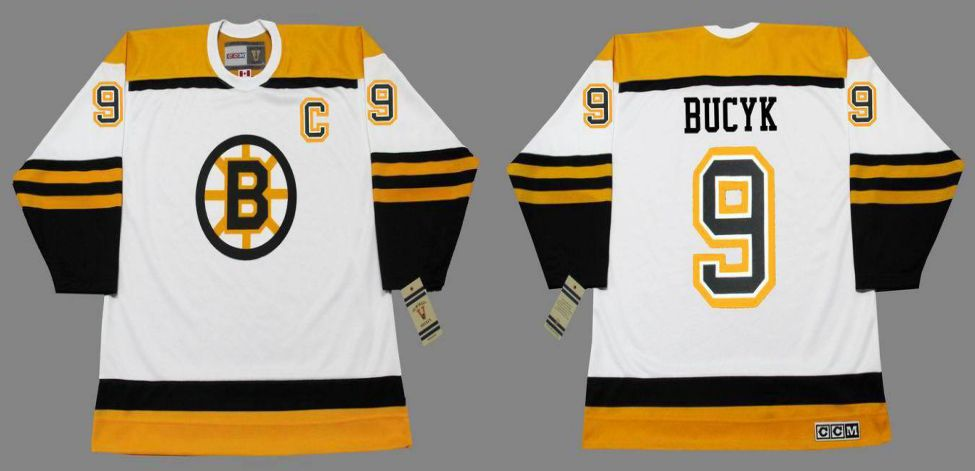 2019 Men Boston Bruins 9 Bucyk White CCM NHL jerseys