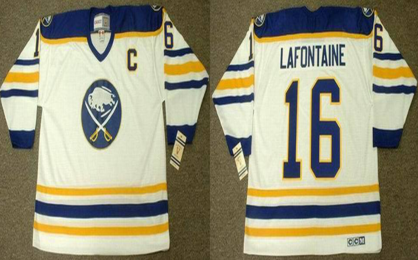 2019 Men Buffalo Sabres 16 Lafontaine white style 2 CCM NHL jerseys