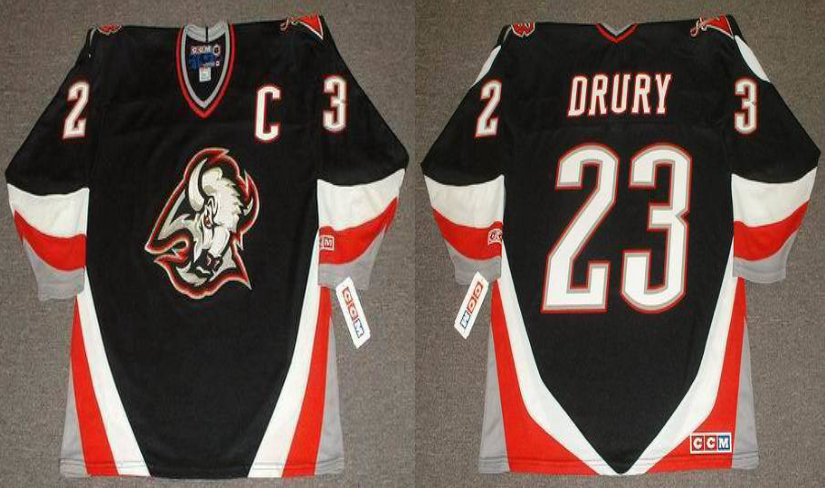 2019 Men Buffalo Sabres 23 Drury black CCM NHL jerseys