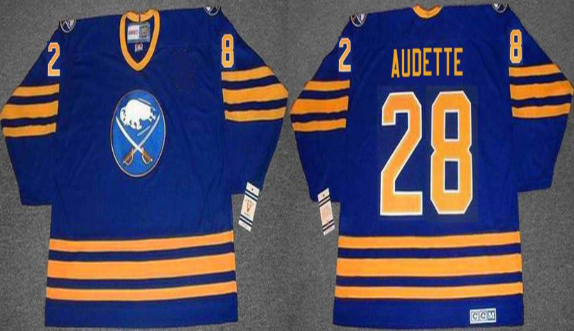 2019 Men Buffalo Sabres 28 Audette blue CCM NHL jerseys