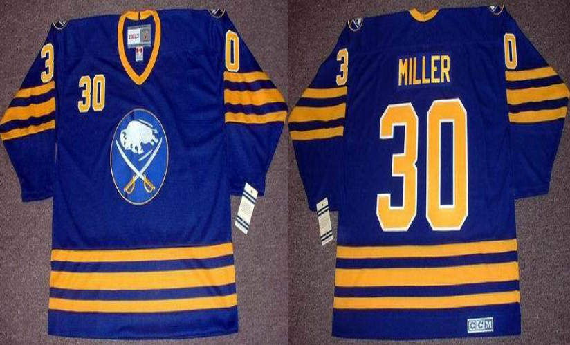 2019 Men Buffalo Sabres 30 Miller blue CCM NHL jerseys