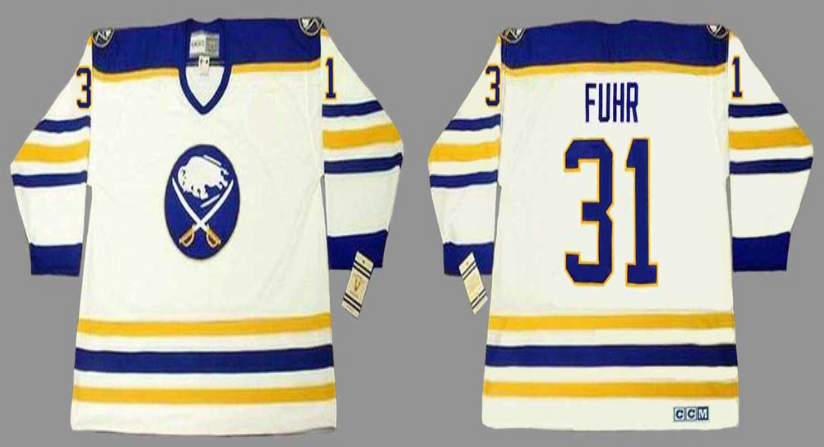 2019 Men Buffalo Sabres 31 Fuhr white CCM NHL jerseys
