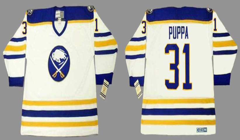 2019 Men Buffalo Sabres 31 Puppa white CCM NHL jerseys