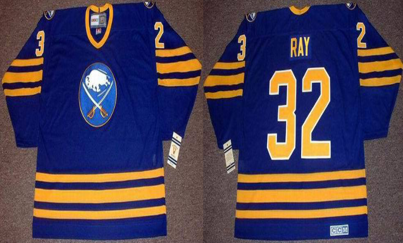 2019 Men Buffalo Sabres 32 Ray blue CCM NHL jerseys