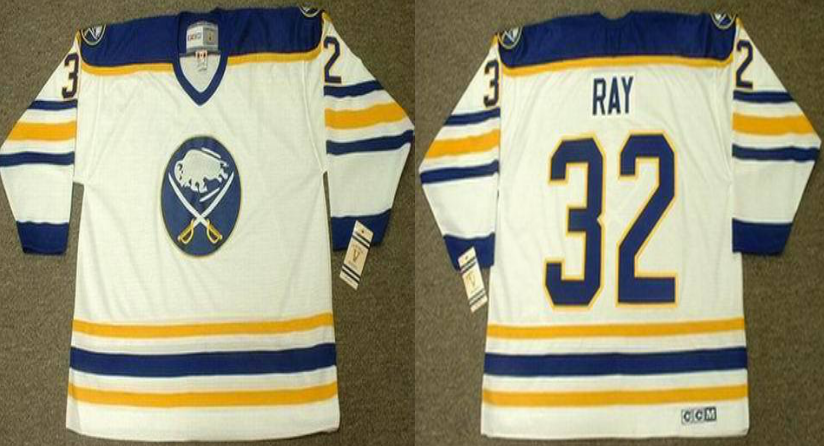 2019 Men Buffalo Sabres 32 Ray white CCM NHL jerseys