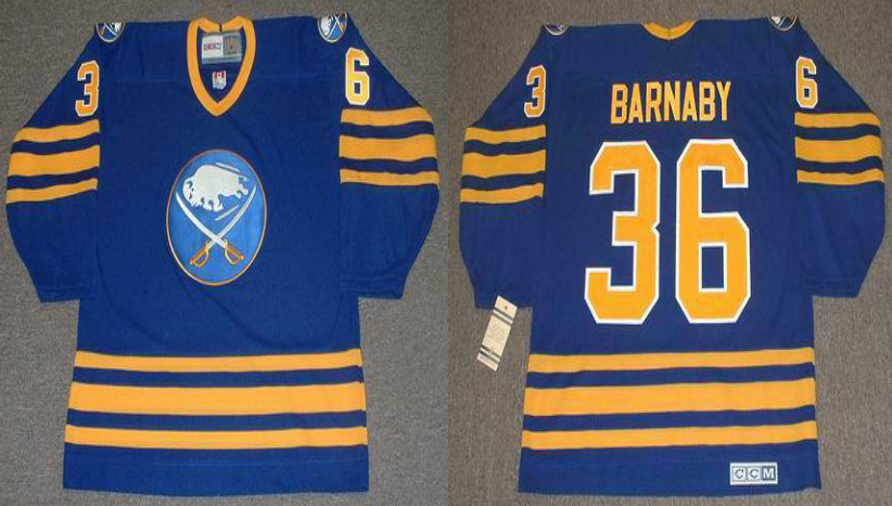 2019 Men Buffalo Sabres 36 Barnaby blue CCM NHL jerseys