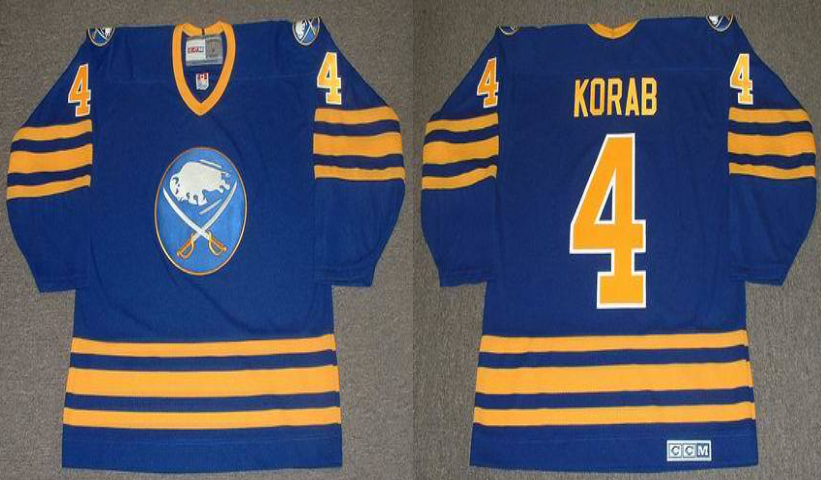 2019 Men Buffalo Sabres 4 Korab blue CCM NHL jerseys
